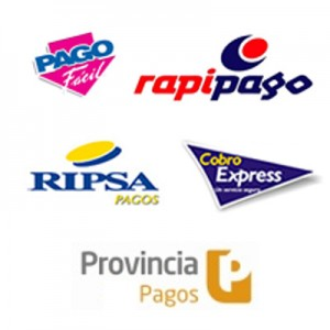Pago Fácil, rapipago, RIPSA, Cobro Express, Provincia Pagos